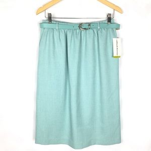 Alfred summer career casual teal aqua office skirt